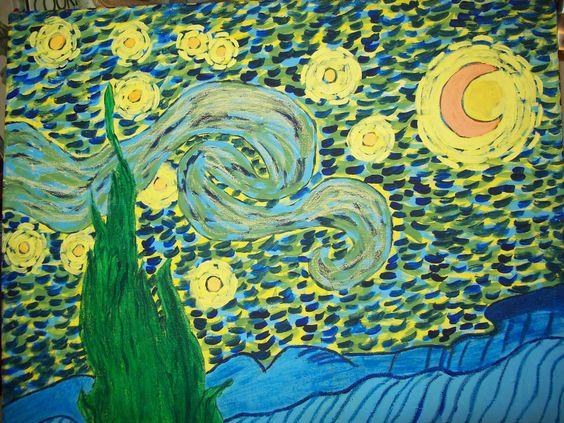 """My version of """"starry night"""" VG   :)"""