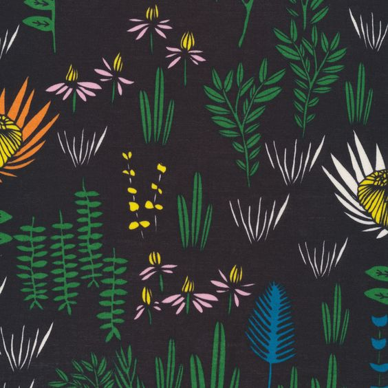 Manu Forest Black - Yucca Collection by Leah Duncan - Voile (5208.52.00.00)