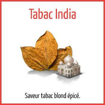 Tabac India - Arômes naturels - Fiole de 10ml - PG/80 VG/20