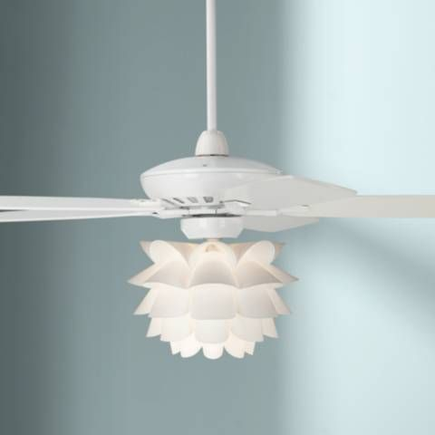 52 Casa Journey White Flower Led Ceiling Fan 71x37 Lamps
