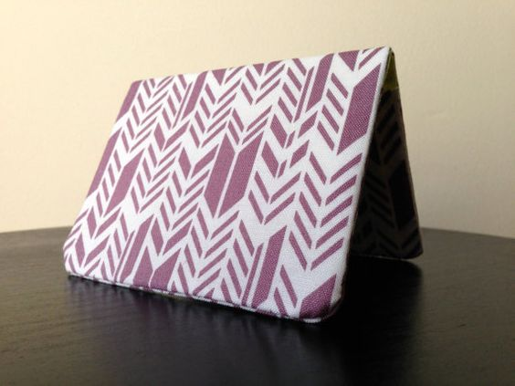 Card Wallet  Purple Feathers by besu on Etsy, $6.00