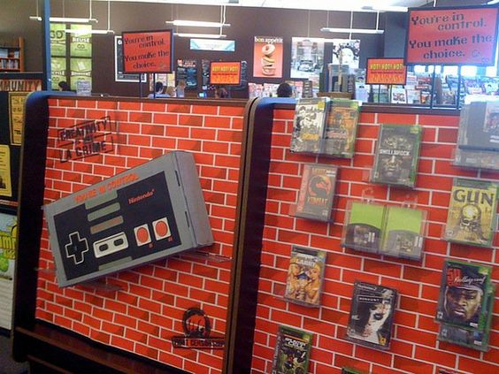 Bookmans Phoenix Video Game Display by Bookmans, via Flickr: