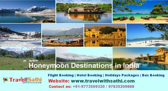 Travel With Sathi Provide you a wonderful range of exotic Honeymoon Tour in India