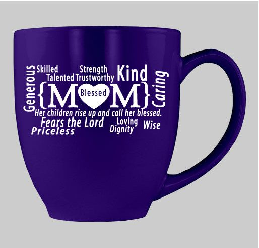 PERFECT Gift for Mom!  My Mom is Blessed 14 oz. Bistro Mug