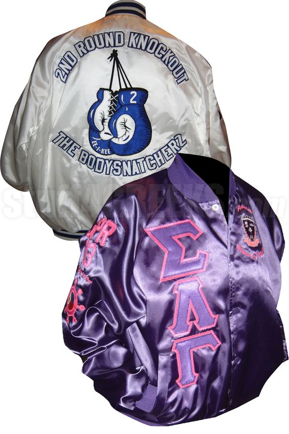 Custom Greek Satin Baseball Jacket | Sigma Lambda Gamma