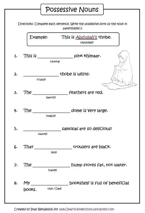 Possessive Nouns Worksheets Possessive Nouns Possessive Nouns Worksheets Nouns And Verbs Worksheets Possessive nouns worksheets grade