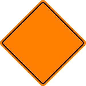 Orange Construction Sign Clip Art School Pinterest