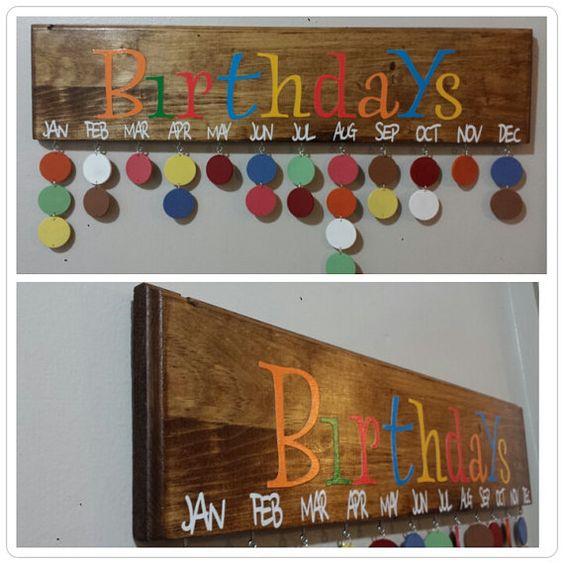 Birthday Calendar Family Birthdays Birthday Board Family Birthday Calendar