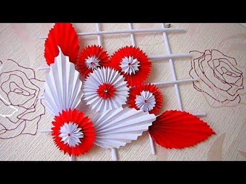 Diy Simple Home Decor Wall Decoration Hanging Flower Paper Craft Ideas Youtube Diy Paper Flower Wall Diy Paper Crafts Decoration Hanging Flower Wall