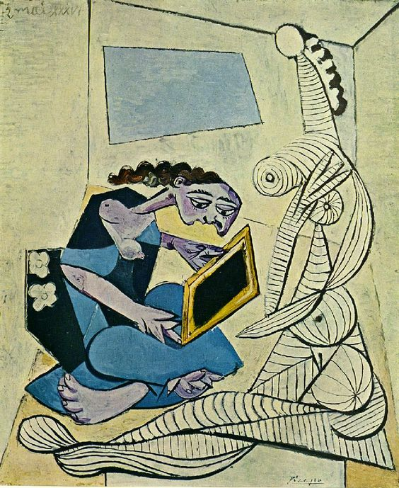 Woman in the Interior (Reading) — Pablo Picasso: