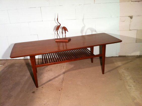 danish modern couch tisch teak grete jalk ra coffee table in antiquit ten kunst design