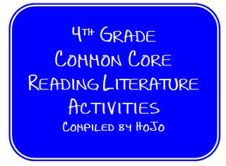 Hopkins' Hoppin' Happenings: HoJo's 4th Grade Common Core Reading Literature List