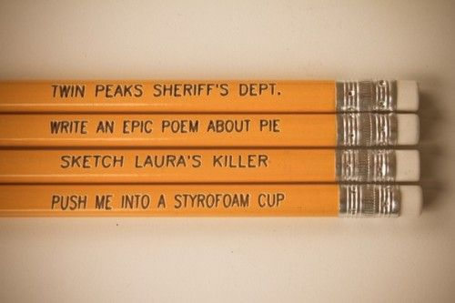 Twin Peaks pencil set - As if these exist! I want them at once <3
