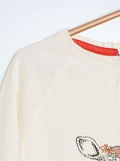Tee-shirt imprimé reliefé - Kiabi