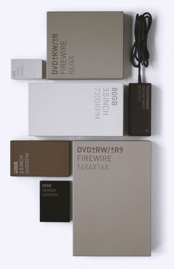 Project: Little Disk Hard Drives  Client: LaCie, France  Design: Industrial…
