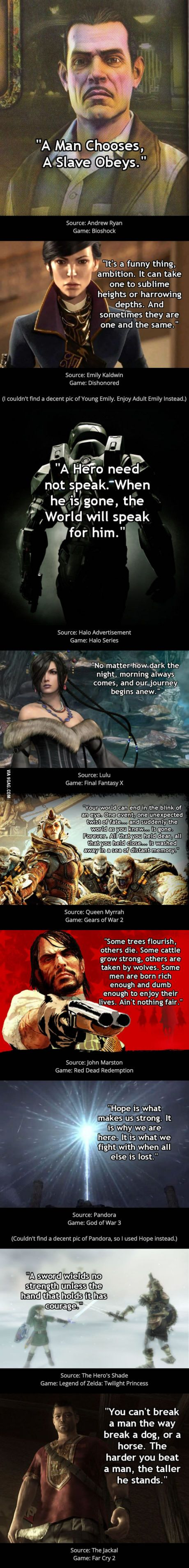 Collection Of Cool Video Game Quotes