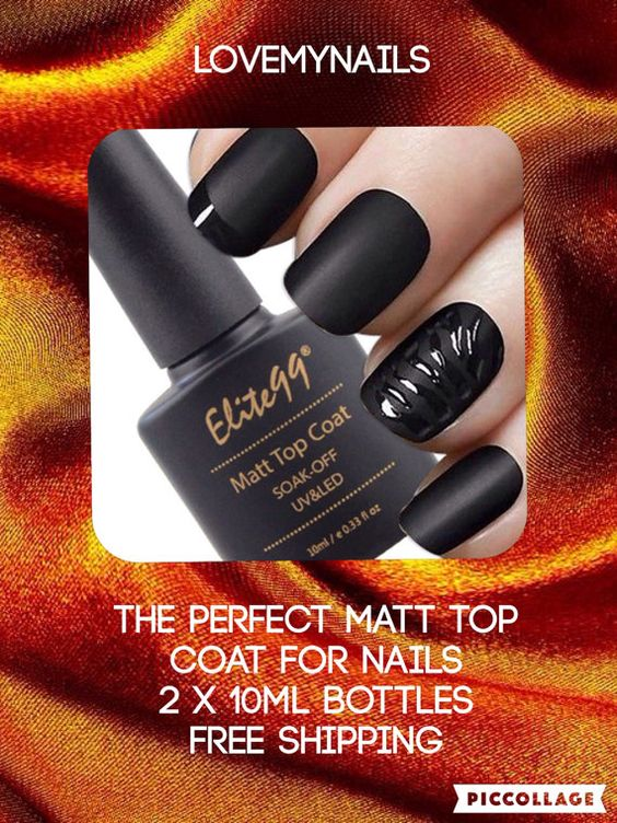 Matte gel top coat nail gel UV LED 2 X 10ml by Lovetobakeandcraft