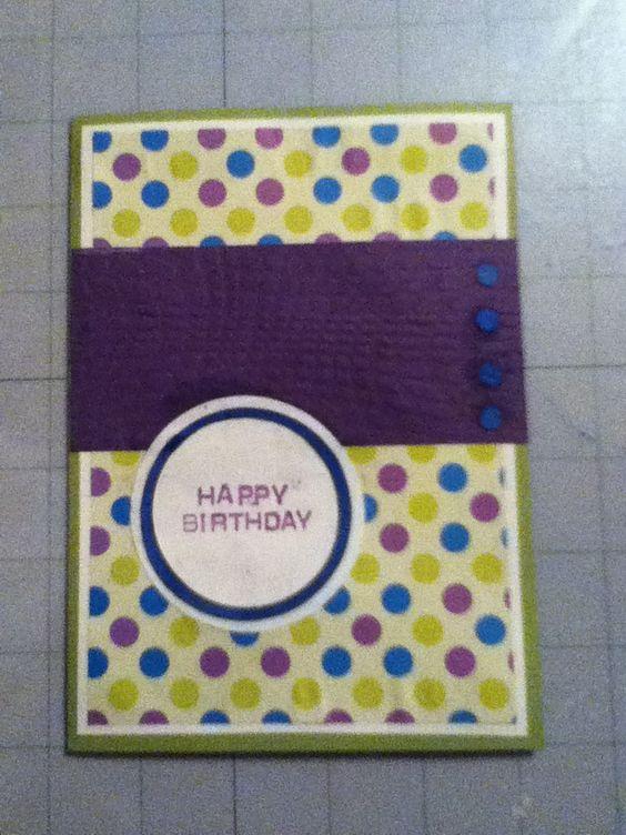 Birthday card I made. :o)