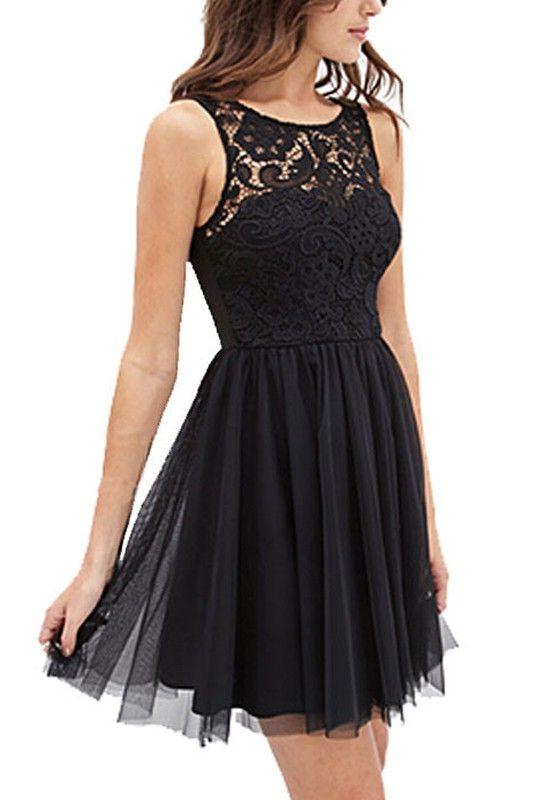 Elegante Schwarze Kleider Kurz