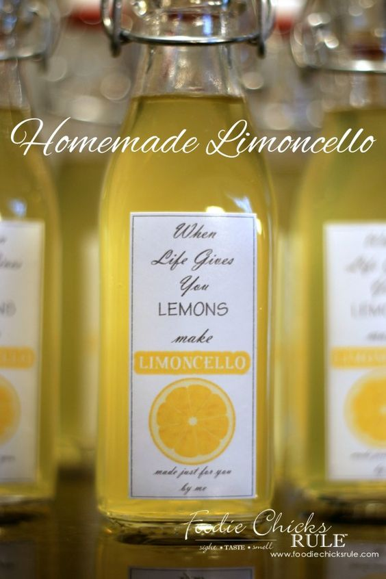 Homemade Limoncello - Make your own it's easier than you think! - #limoncello foodiechicksrule.com