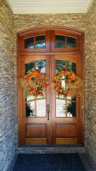 Time To Show Off This Recent Install Divided Lite Double Entry Wood Door With Matching Arch