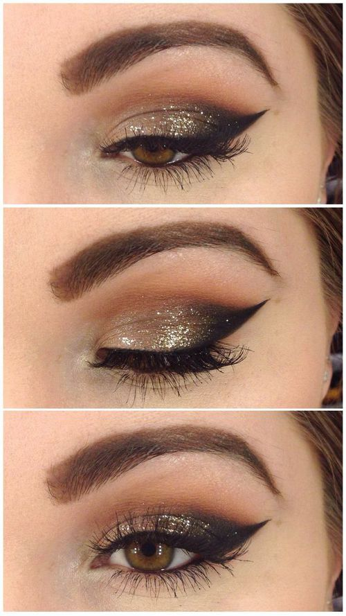 Just the right amount of glam for a night on the town. Ring in the New Year with a subtle smokey eye featuring OCC Glitter in Gold ($14.00), available at crcmakeup.com