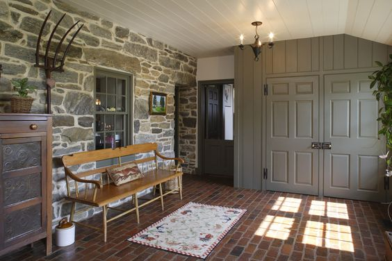 John Milner Architect Design Preservation Chadds Ford Pennsylvania Home Mudroom
