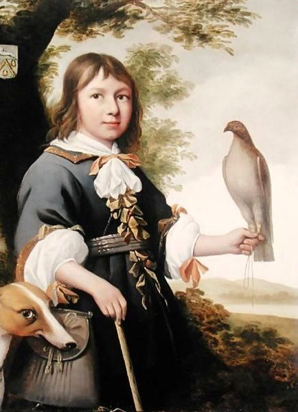 Boy With A Falcon And A Greyhound