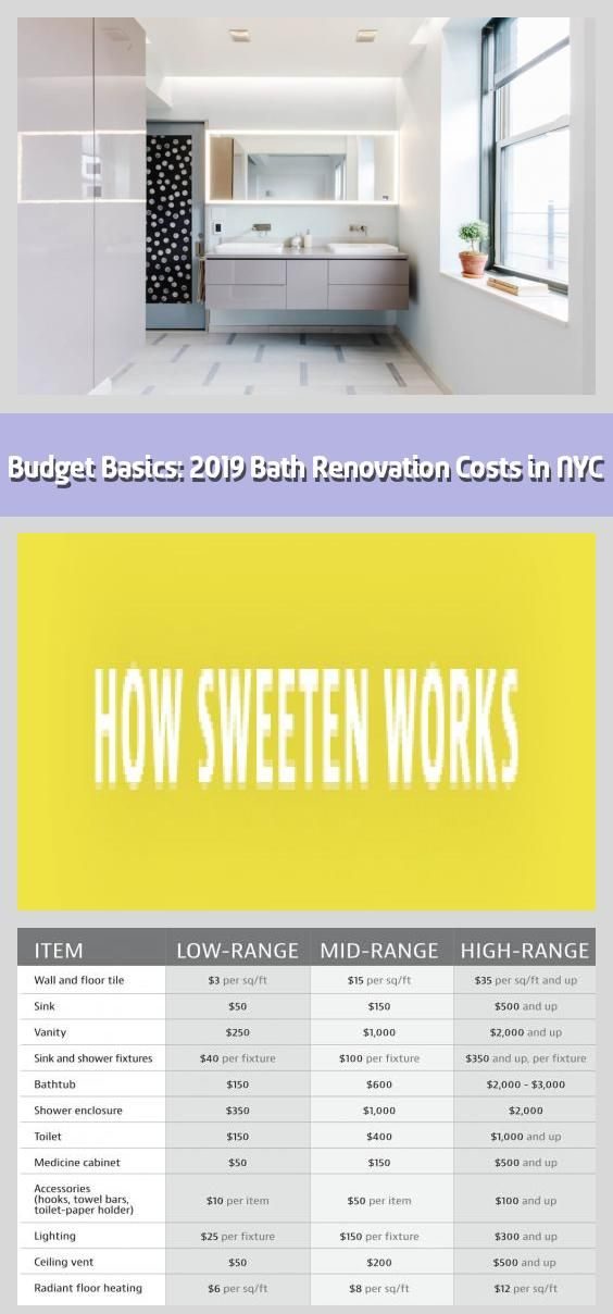 Budget Basics 2019 Bath Renovation Costs In Nyc What You Could