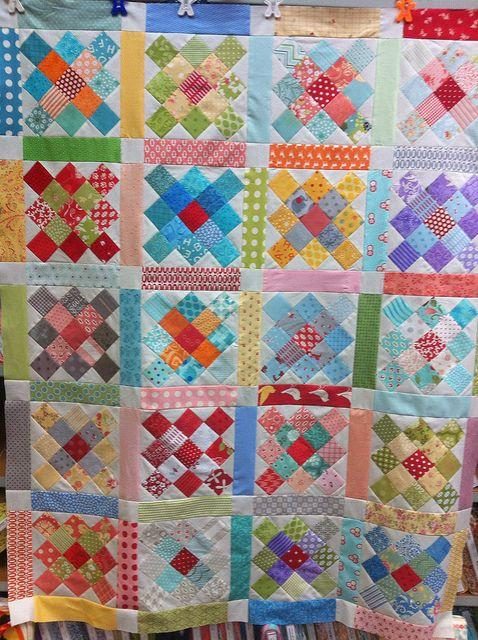 By alexander.lissa: Quilting Ideas, Fabric Ideas, Quilt Ideas, Granny Square Quilt, Colorful Quilts, Squares Quilt, Scrappy Quilt, Square Quilts