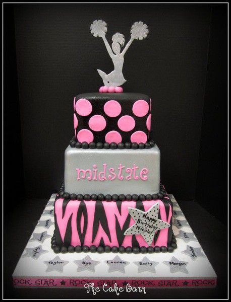 I'm thinking end of the season party cake to have Sonnet make :) Black-Dark Green, Silver-White, Pink-Yellow