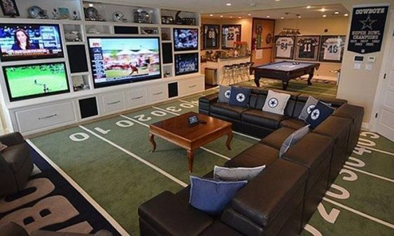 Man Cave!... To be honest I would want this.. To watch all my shows at once lol by juliette