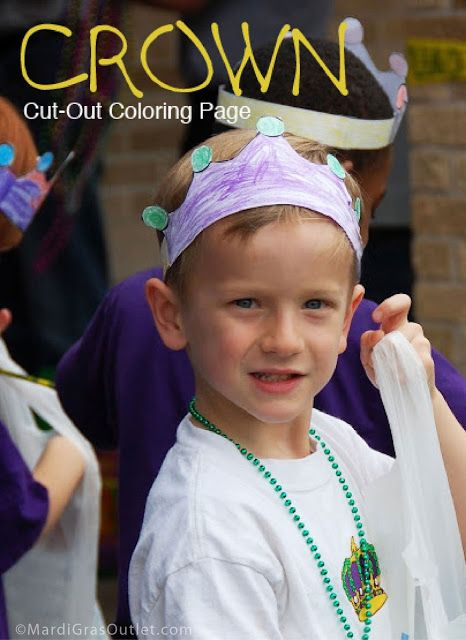 Party Ideas by Mardi Gras Outlet: Color and Cut-out a Mardi Gras Crown: Free Printable