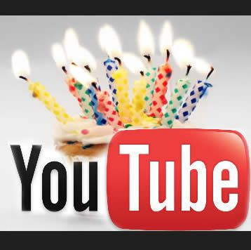 Youtube celebra su cumpleaños número 9