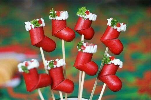 Salsichas natalinas