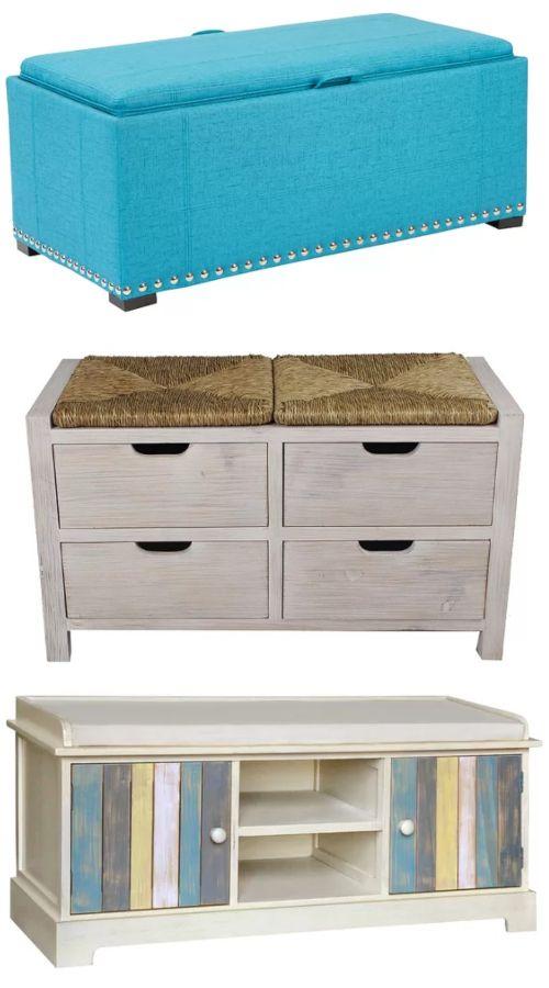 Coastal Benches For Coastal Style Living Upholstered Storage Garden Upholstered Storage Bench With Storage Entryway Storage