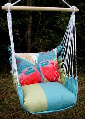Meadow Mist Paper Butterfly Hammock Chair Swing Set only $139.99 at Garden Fun - Butterfly Decor