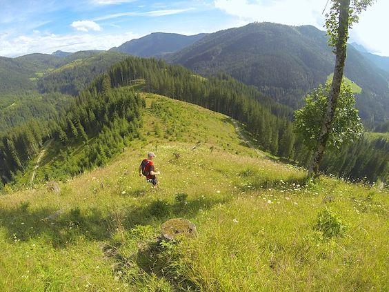Berglauf Valepp - Schinder, Abstieg zur Erzherzog-Johann-Klause.  #trainrunning #tegernsee #berglauf