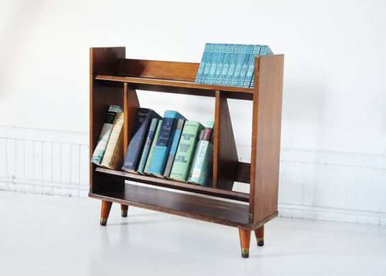MidCentury Bookshelf by thewhitepepper on Etsy, $194.00  - I have one of these!!