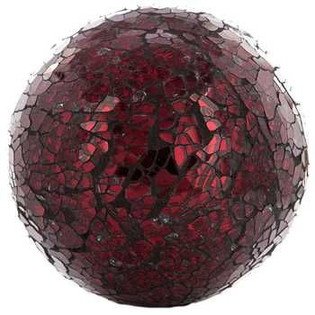 """Red 4"""" Mosaic Deco Sphere"""
