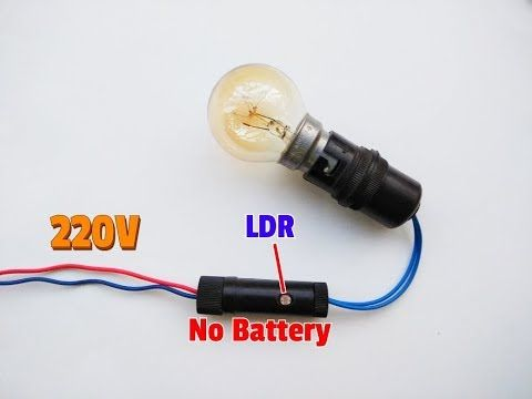 How To Make 220v Automatic On Off Light Circuit No Battery