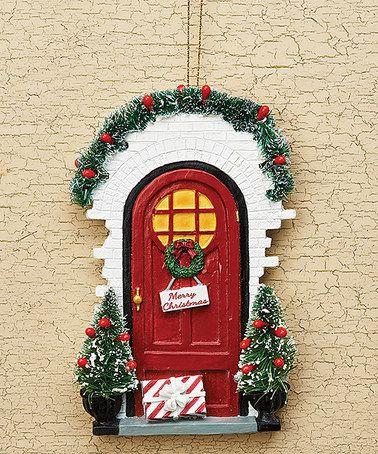 Another great find on #zulily! Winter Door Ornament #zulilyfinds