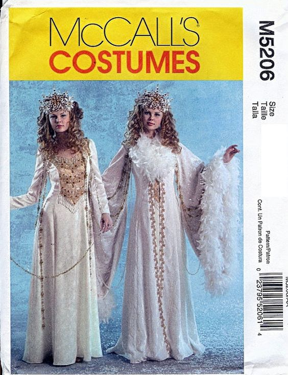 McCall's Costume Pattern M5206 Misses Snow Queen by RestlessNeedle, $8.50