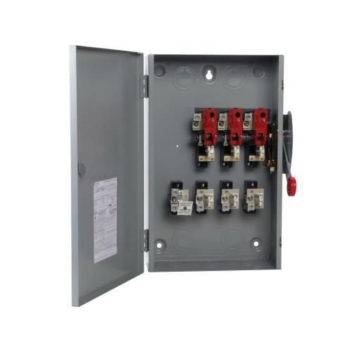 Eaton Dg324ngk 4 Wire 3 Pole Fusible K Series General Duty Safety Switch 240 Volt Ac 200 Amp Nema 1 Safety Switch Switch Electrical Installation
