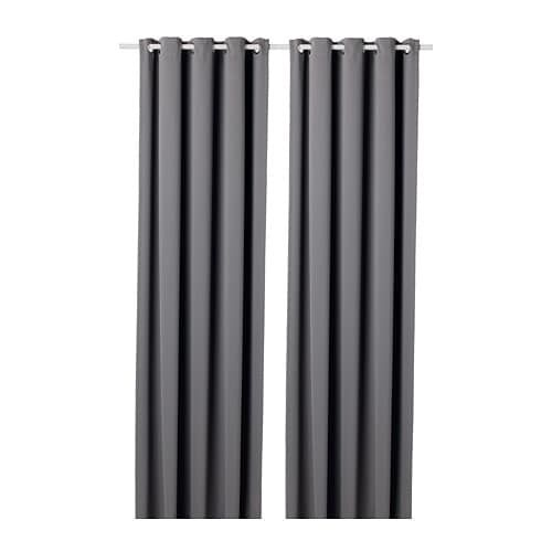 Hilleborg Blackout Curtains 1 Pair Gray 57x98 Block Out