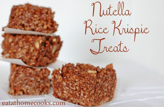 Nutella, Rice krispie treats and Krispie treats on Pinterest