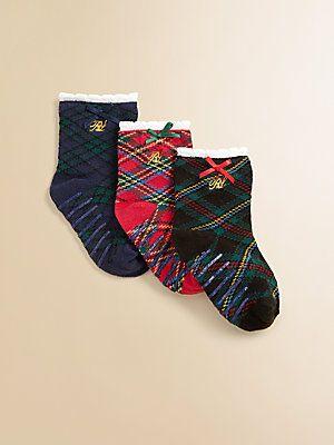 Ralph Lauren Infant's Plaid Trouser Socks