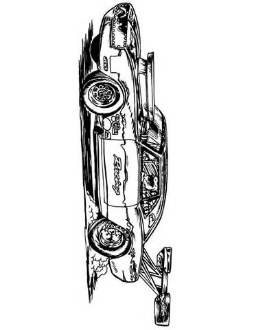 Classic Muscle Car Coloring Page | Coloring pages for Adults ...