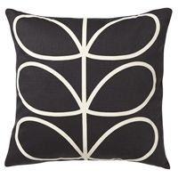 Orla Kiely Linear Stem Cushion / Cushion Cover | Slate Blue