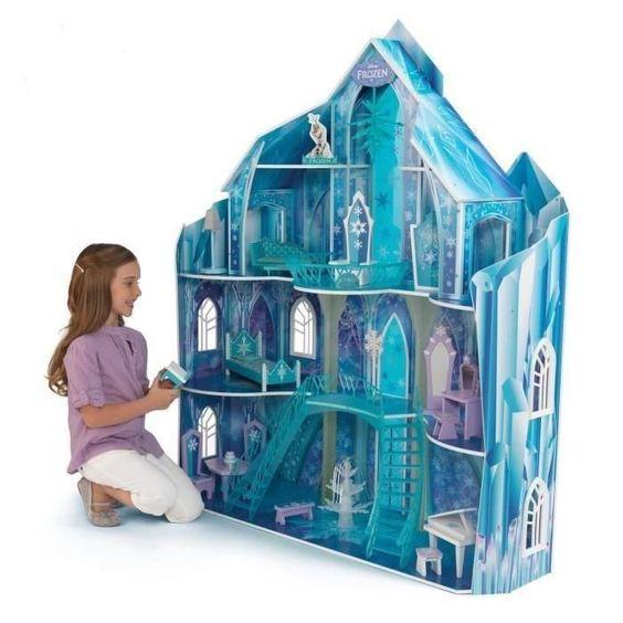 kidkraft la reine des neiges palais de glace delsa en bois maison de